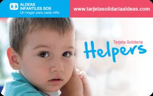 tarjeta helper Aldeas Infantiles